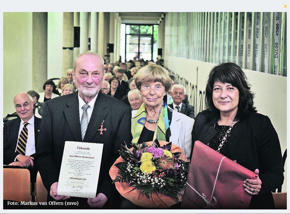 Festakt im Museum Kurhaus: Diedenhofen ist Kleves Ehrenbürger