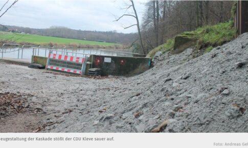 ALTER TIERGARTEN – CDU: Die Klever Kaskade wurde brutal entstellt