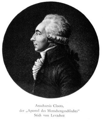 225. Todestag von Anacharsis Cloots (24.06.1755 Kleve – Paris 24.03.1794)