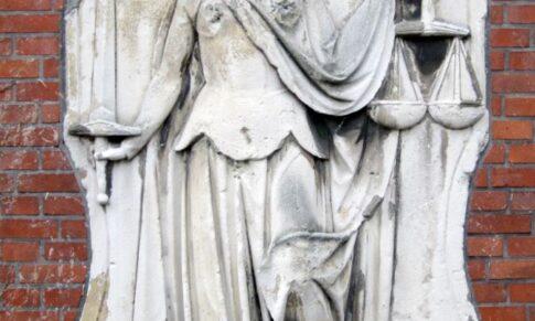 Klever Justitia aus dem 19. Jahrhundert