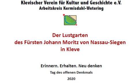 Der Lustgarten des Fürsten Johann Moritz von Nassau -Siegen in Kleve …